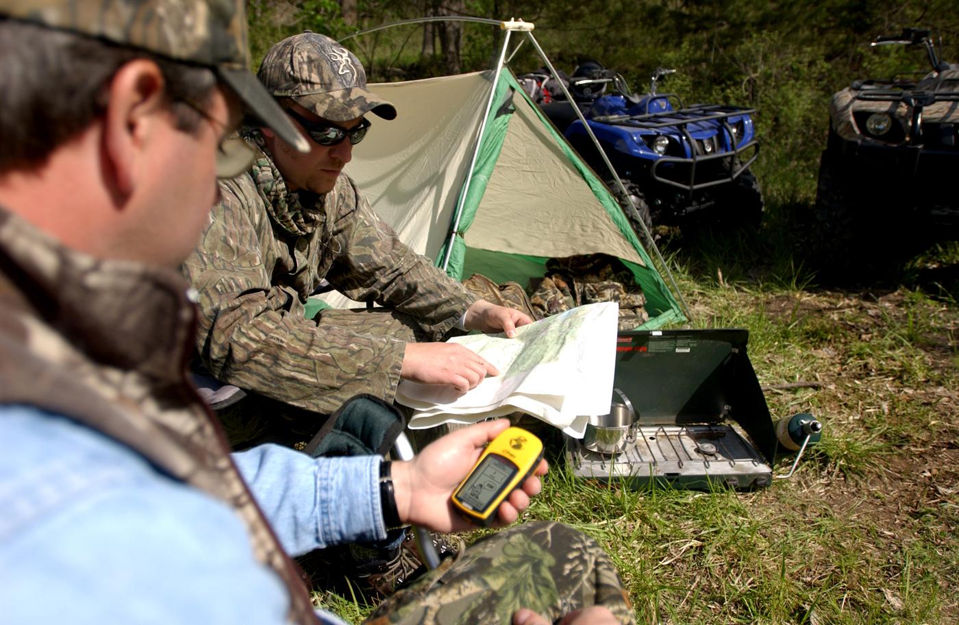 навигатор для похода рыбалки охоты